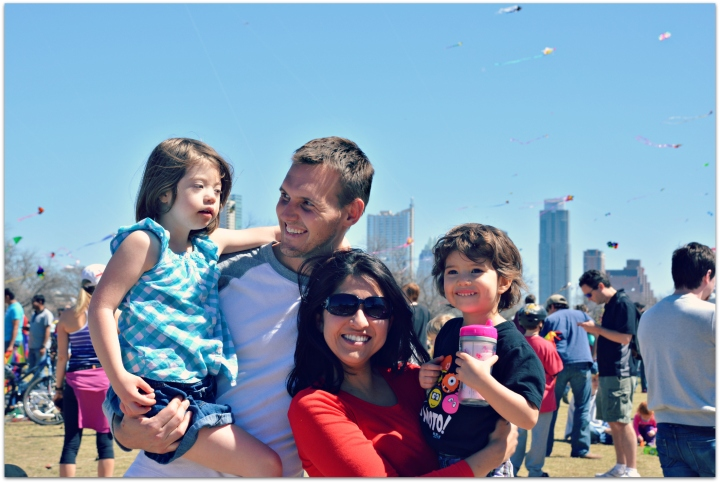 Me, my love, and two of my nieces at the Kite festival
